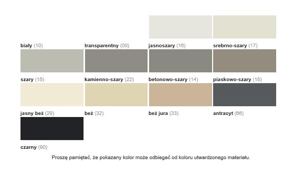 MarmorSilicon kolory, Sopro MarmorSilicon - silikon do kamieni naturalnych