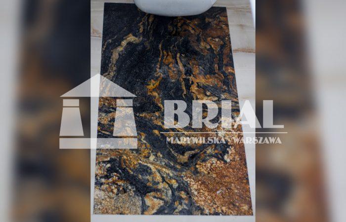 Płyta granitowa na podłodze - granit Magma satyna