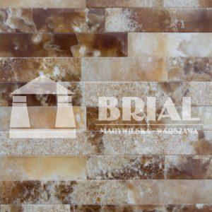 Cegiełki z onyksu miodowego, mozaika z onyksu, onyks na ścianę